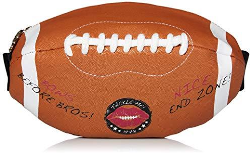 Betsey Johnson Damen Football Fanny Pack Hüfttasche, braun, Einheitsgröße