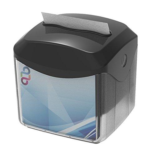 Clar Systems Lubbo Dispensador de Servilletas Interplegadas de Sobremesa, Plástico ABS, Negro, 15x14x15 cm, 10 Unidades