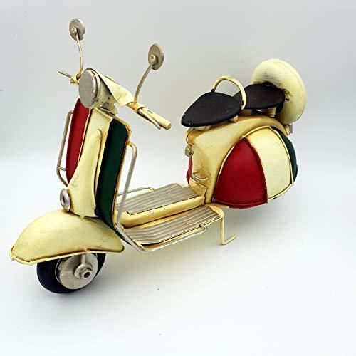 DynaSun Art - Modelo de moto de época vintage de metal, objeto de colección, estilo retro, en escala 1:6, 26 cm