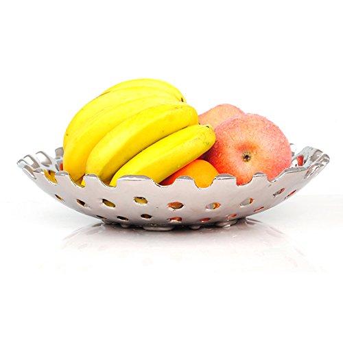 YZ Fruitschaal met zilverkleurige verzilverde keramische fruitbord, creatieve hoofdholten woonkamerversieringen snack dienblad