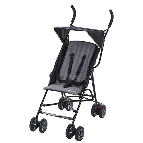 Safety 1st Flap Passeggino Ultraleggero, Pieghevole da Viaggio con Chiusura Ombrello, Reclinabile, Per bambini fino ai 15 kg di peso, Colore Nero (black chic)