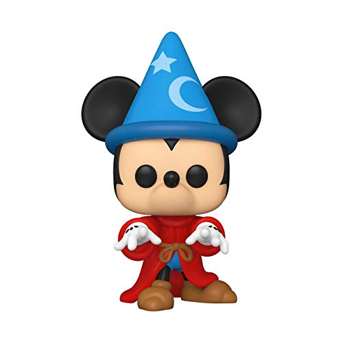 Funko- Pop Disney: Fantasia 80th-Sorcerer Mickey Figura Coleccionable, Multicolor (51938)