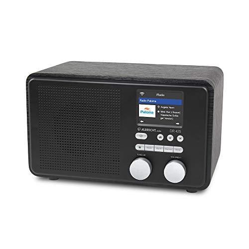 Albrecht DR 425 IR, Internet-Radio mit USB-Buchse und DLNA-Heimvernetzung, unterstützt Spotify Connect, Farbe: schwarz
