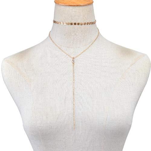 Scpink Venta de liquidación! Collar de múltiples Capas,Mujeres Borla Colgante Elegante Cadena de joyería Mejor