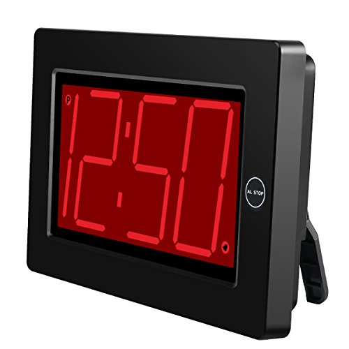 Timegyro Reloj de Pared LED Digital Pantalla Grande de 3 '' con Pilas/con alimentación Solamente