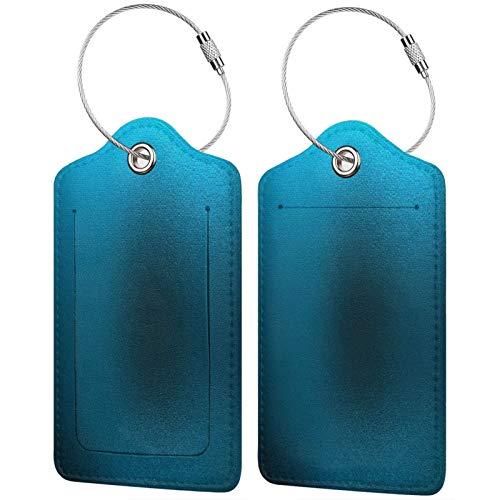 FULIYA Etiquetas para equipaje de viaje para tarjetas de visita, 2 unidades, cristal, metal, azulejos, mosaico.