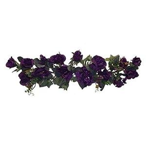 Purple Swag Roses Hydrangea Silk Wedding Flowers Arch Gazebo Table Centerpieces Artificial OSW01