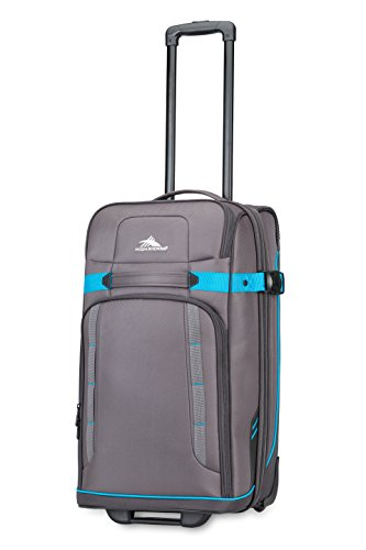 High Sierra Evanston Softside Upright Luggage, Slate/Mercury/Pool, 25-Inch