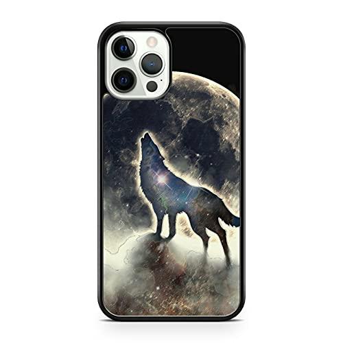 Majestic - Carcasa para iPhone 5, diseño de lobo con luna
