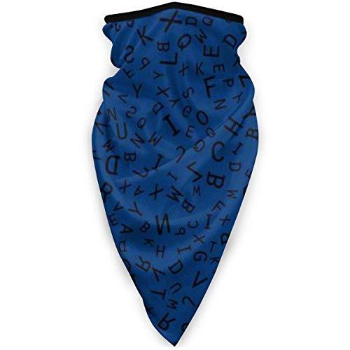 TTYIY - Máscara de esquí resistente al viento, máscara deportiva para el cuello, bufanda para motocicleta, compuesta de letras del alfabeto inglés, pasamontañas, capa media térmica de invierno
