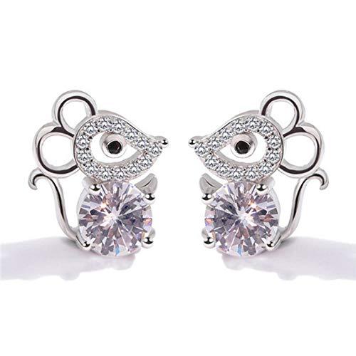 Empty oorbellen van 925 sterling zilver met Micky zirkonia voor dames sieraden voor meisjes verjaardagscadeau voor jongens