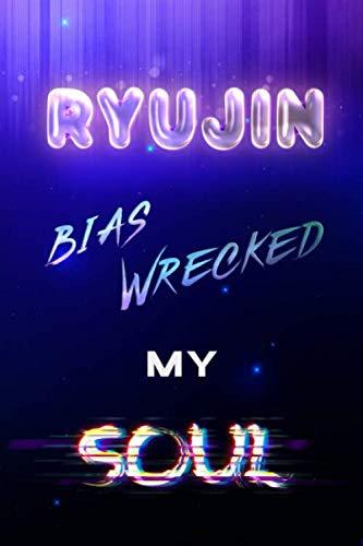 Ryujin Bias Wrecked My Soul: Itzy Starry Night Light Kpop Bias Merch Notebook 100 Page 6 x 9
