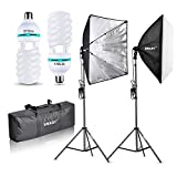 Emart 1000W Softbox Lighting Kit Photography Continuous Photo Studio...