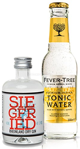 Gin Tonic Probierset - Siegfried Rheinland Dry Gin 4cl (41% Vol) + Fever-Tree Tonic Water 200ml inkl. Pfand MEHRWEG