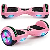 LIEAGLE Hoverboard, 6.5' Self Balancing Scooter Hover Board with UL2272 Certified Wheels LED Lights for Kids Adults(A02 Pink)
