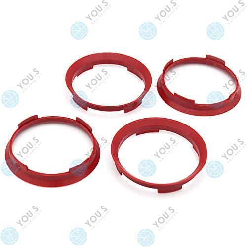 YOU.S ZENTRIERRING Rot für ALUFELGEN 70,4 x 66,1 mm (4 Stück) - A704661