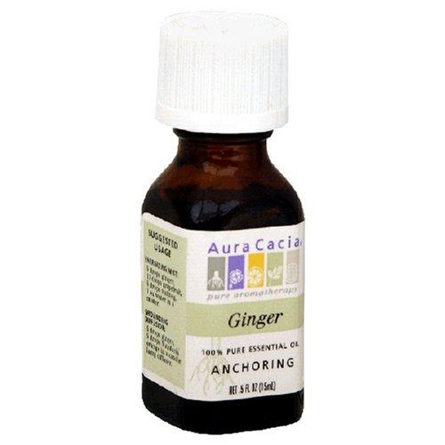 2 stuks Aura Cacia etherische olie gember - 0,5 fl oz