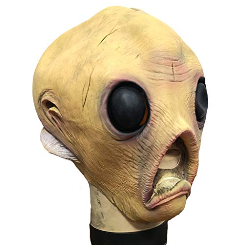 CLGTY Halloween Masker Alien Enge Halloween Cosplay Voor Volwassenen Party Decoratie Props Volledige Hoofd Masker, 25×40CM, Buitenaardse