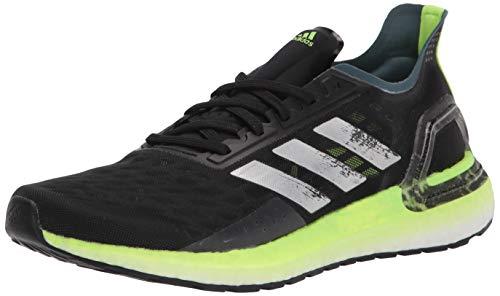 adidas Tênis de corrida masculino Ultraboost Personal Best, Preto/prata/verde sinal, 7