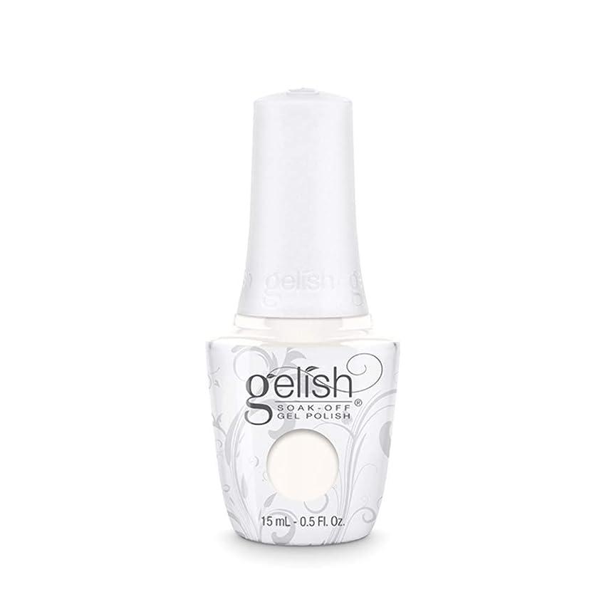 防水適格電気技師Harmony Gelish Gel Polish - Sheek White - 0.5oz / 15ml