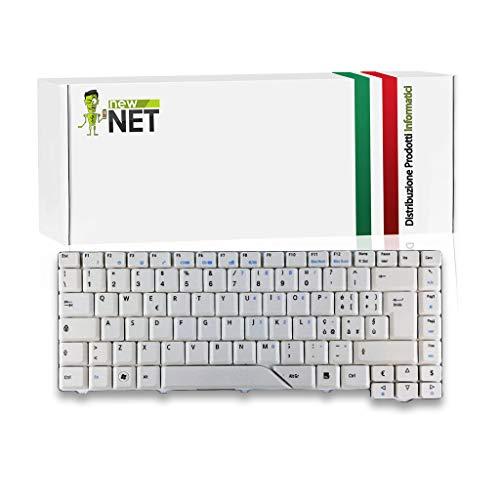 New Net Keyboards – Teclado italiano compatible con Notebook Acer Aspire AS5315-2142 AS5315-2191 AS5315-2940 AS5520-5908 AS5520-5912 5520-5912 AS5720-4230 AS5720 -46622 Gris