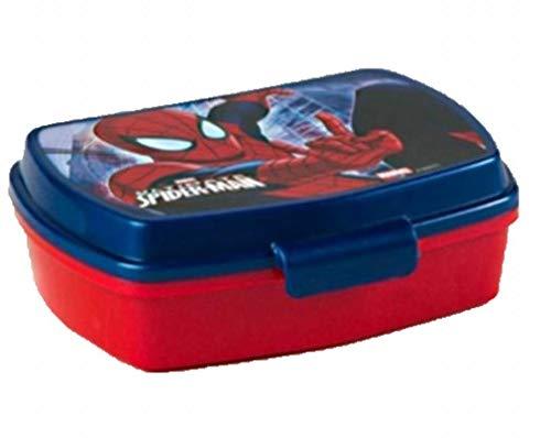 BOITE A GOUTER SPIDERMAN LUNCH BOX ROUGE BLEU 17 X 13 CM