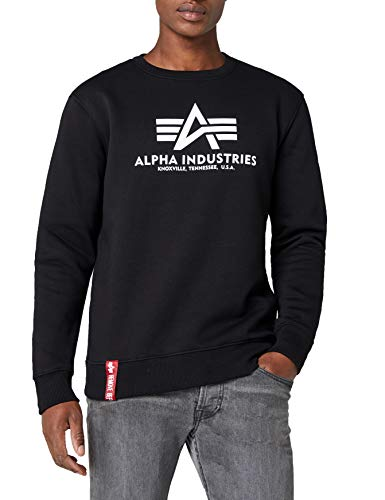 ALPHA INDUSTRIES Herren Basic Sweater Pullover, Schwarz (Black 03), X-Large