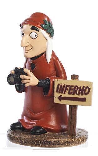PABEN Dante Alighieri Caricatura Spiritosa 3D in Resina cm. 14 Collezione I SOMMI Souvenir Firenze Tuscany Toscana