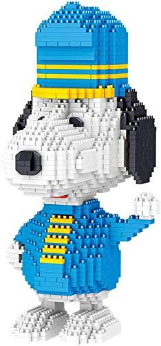 Animales Bloques De Construcción Ladrillos Conjunto Mini Snoopy Figuras Modelo Educativo Regalo Juguetes,Azul