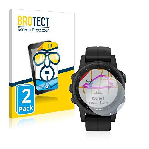 BROTECT Schutzfolie kompatibel mit Garmin Fenix 5S Plus (42 mm) (2 Stück) klare Bildschirmschutz-Folie