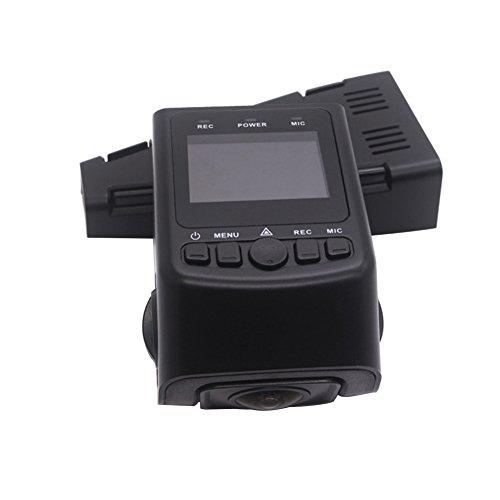 FOORDAY - Mini cámara para salpicadero de Coche de 1.5 Pulgadas Full HD 1080P LCD, cámara de vídeo DVR para conducción, cámara de salpicadero con Sensor G, Color Negro