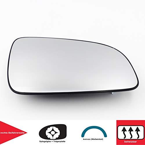 QSParts 4727 Spiegelglas Heizbar Für 5 Türen rechts Beifahrerseite