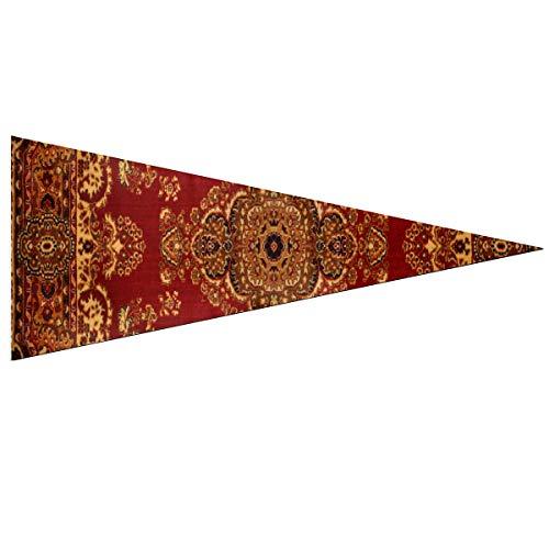 JOCHUAN Wimpel Banner Fahnen Persische Textur Ornament Runde Mandala Royal Red Fahnen für die Dekoration Classic 12 X 30 Zoll weich und langlebig für draußen und drinnen Niedlicher Wimpel