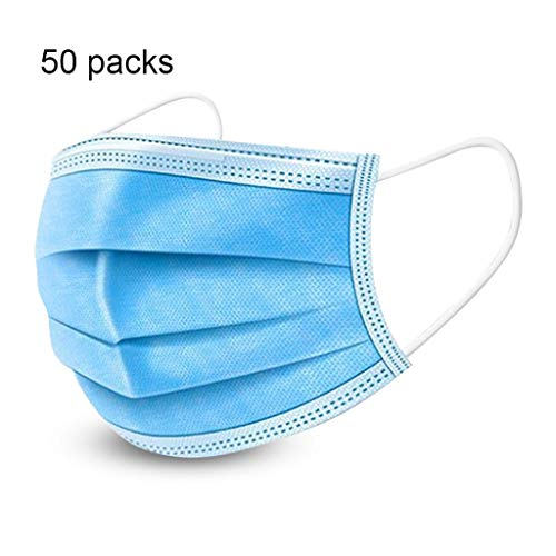 XXZJD Gezichtsmasker Disposable, 50 PCs Met De Ear Loops Cup Maskers Ademende Oorhaakje Gezichtsmasker 3 Lagen Maskers (Color : 50 packs)