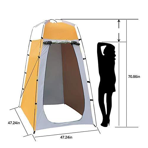 Tragbares Privacy-Duschzelt, 47,24 x 47,24 x 70,87 Zoll Pop-up-Zelt, abnehmbare Umkleidekabine für Camping Wandern Strand-Toilette Dusche Badezimmer im Freien Reisen