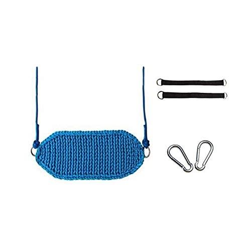 Balancelle de Jardin Respirant tissé Balancez des balançoires for enfants portable Jeu Chaise ergonomique Hanging design for intérieur et extérieur Balançoire (Color : Blue-A)