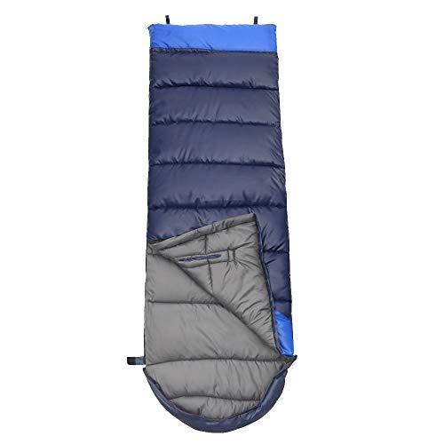 NACATIN 3 Jahreszeiten Schlafsack Schlafsack Outdoor Leichter Deckenschlafsack mit Kleinem Packmaß in Tragetasche für Camping Outdoor Reise Indoor 220 x 75 cm Zum Verbinden für 2 Personen (Blau 1)