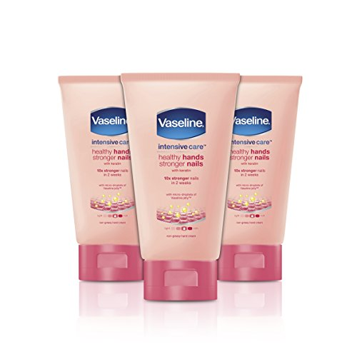 Vaseline-Handcreme Healthy Hands and Stronger Nails, 75 ml, 3er Pack (3 x 75 ml)