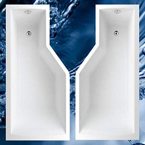 Badewanne 150x75, 160x80, 170x80 cm TUBA Ausführung rechte Version, Größe 170x80 cm