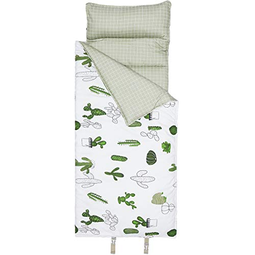 Product Image of the Hi Sprout 100% Cotton Kids Toddler Lightweight and Soft Nap Mat (Cactus)
