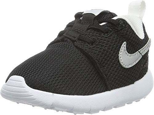 Nike Roshe One (TDV) Infant Toddlers Baby Shoes Black/Mettalic Silver-White 749430-021 (9 M US)