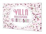GRAZDesign Personalisierte Türschilder, Geschenk zum Einzug, Namensschild Haustür Villa Familie...