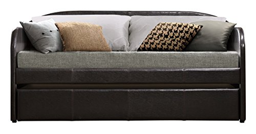 Homelegance Roland Fabric Upholstered Daybed with Trundle, Twin, Gray