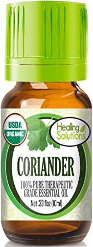 Organic Coriander Seed Essential Oil (100% Pure - USDA Certified Organic) Best Therapeutic Grade Essential Oil - 10ml