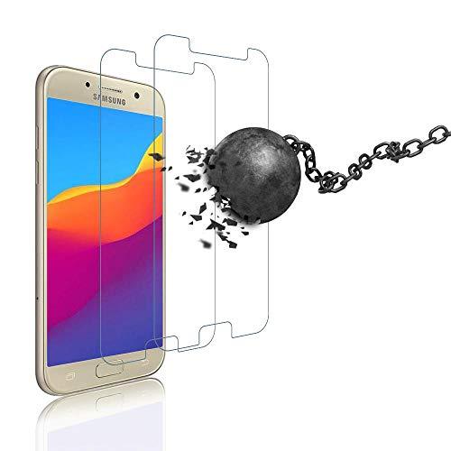 wsiiroon Panzerglas für Samsung Galaxy A5 2017,3D Vollbild-Displayschutzfolie für Schutzfolie für Samsung Galaxy A5 2017,9H Härte, einfach anzuwenden 2 Stück