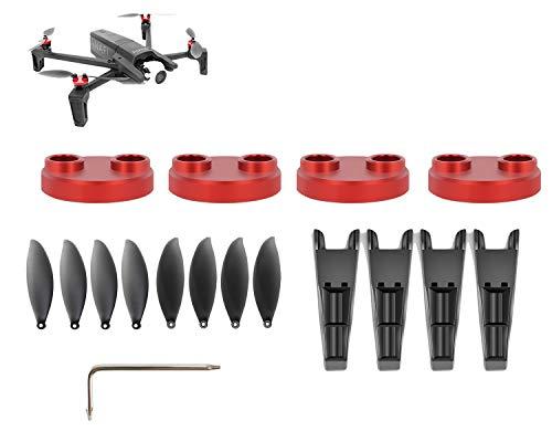 Tineer Anafi Zubehör-Kit-4pcs Motorabdeckungsschutz + 8pcs Propeller + Fahrwerkbein Höhe Extender 3 Sets für Parrot Anafi Drohne Quadcopter