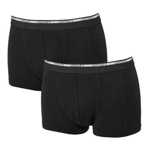 Jockey Schwarze Pants - Doppelpack - XXL Größen, Größe:4XL
