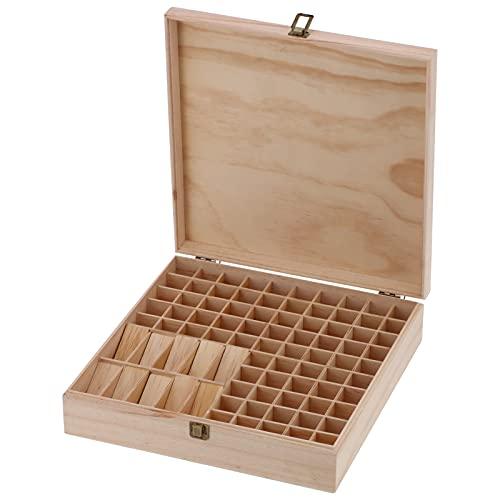 Caja De Aceite Esencial, Caja De Madera De Aceites Esenciales Envases De Aceite Esencial Almacenamiento para Tienda De Maquillaje para Salón De Belleza