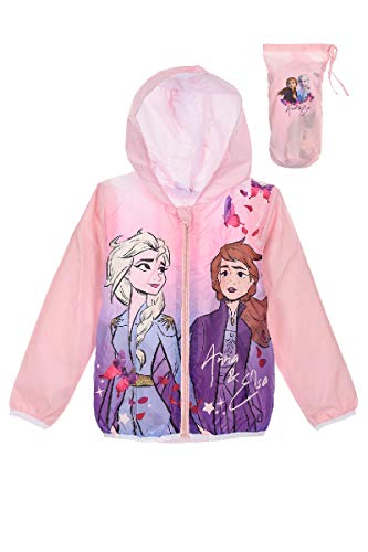 Disney Eiskönigin 2 Regenjacke Mädchen Jacke (Rosa, 104)