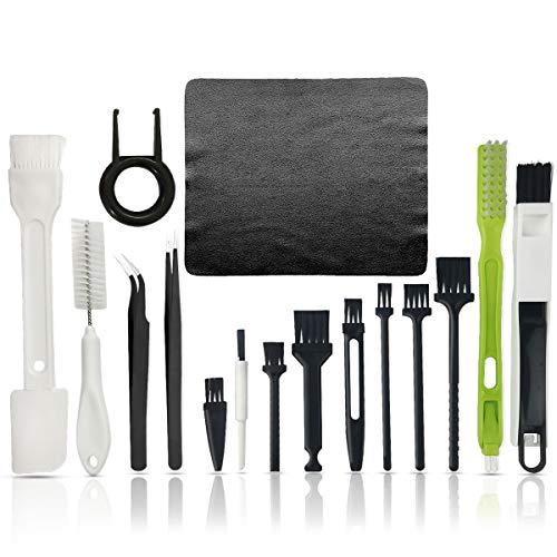 Cepillo de limpieza de teclado,Kit de limpieza de PC,Cepillo antiestático de plástico portátil Teclado PC Kit de limpieza de equipo electrónico de computadora Set de herramientas de limpieza
